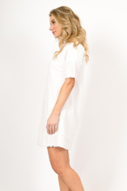 Very J  Distressed Linen Dress - Front full body
