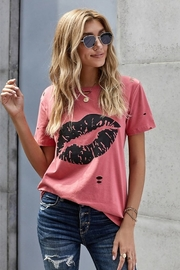 Shewin Distressed Lips Tee - Product Mini Image