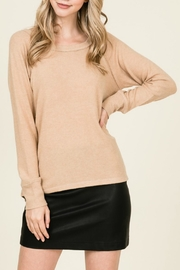Lumiere Distressed Long-Sleeved Pullover - Product Mini Image