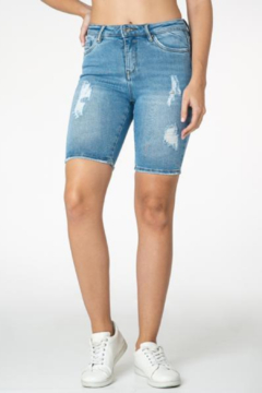 Funky Soul  Distressed Mid Rise Bermuda Short - Product List Image