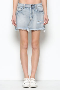 Hidden Jeans Distressed Mini Skirt - Product List Image
