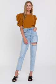 Endless Rose Distressed Mom Jean - Front cropped