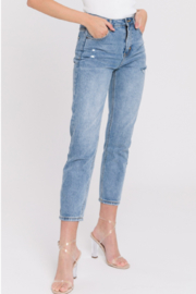English Factory Distressed Mom Jean - Front cropped