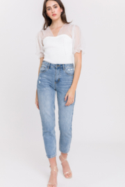 English Factory Distressed Mom Jean - Side cropped