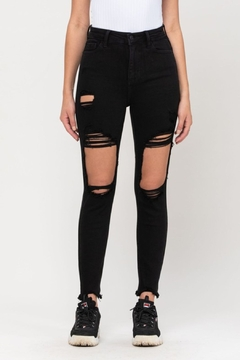 Cello Jeans Distressed Mom Skinny - Product List Image