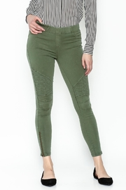 BEULAH STYLE Distressed Moto Pants - Back cropped
