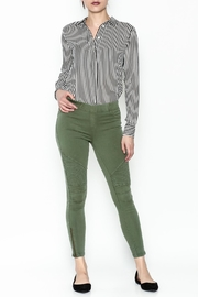BEULAH STYLE Distressed Moto Pants - Front cropped