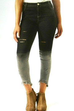 Coco + Carmen Distressed-Ombre Capri Jeggings - Alternate List Image