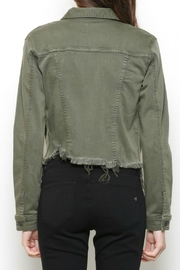 Hidden Jeans DISTRESSED & OUT MILITARY JACKET - Back cropped