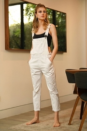 Risen Distressed Overall Jeans - Product Mini Image