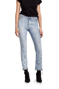 Moon Painted Frayed & Embellished Denim - Product List Image