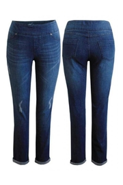 Up! Distressed Pull-On Jeans - Front full body