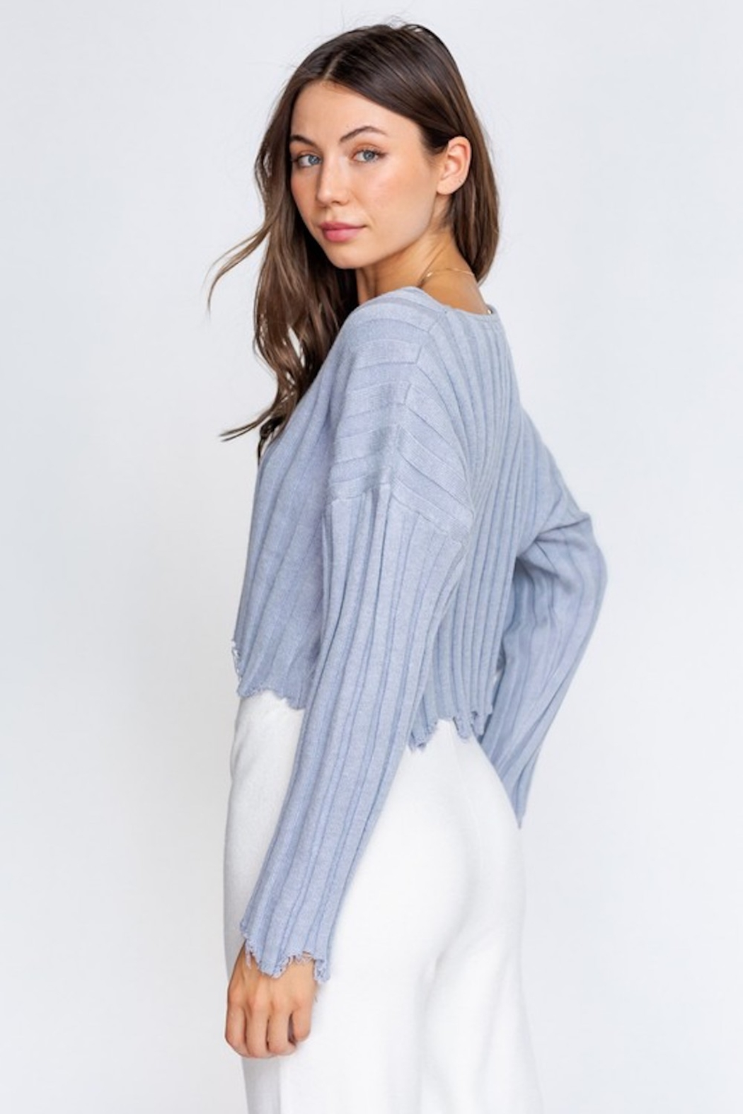 Le Lis Distressed Pullover - Front Full Image