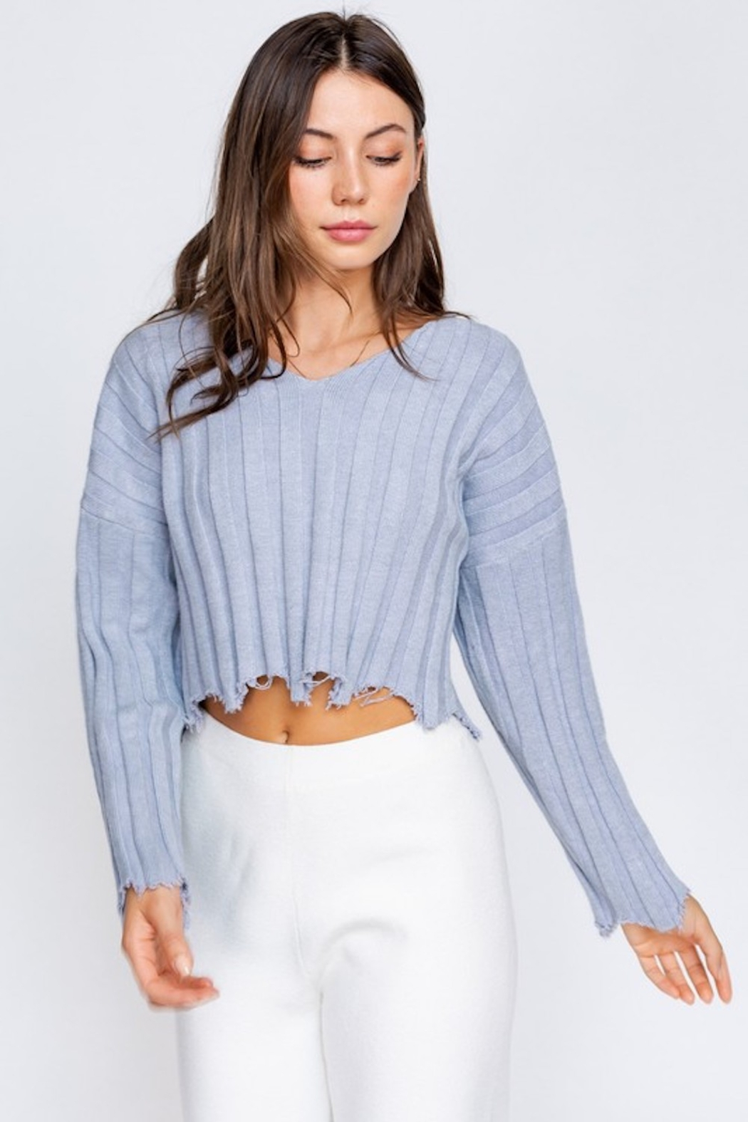 Le Lis Distressed Pullover - Main Image