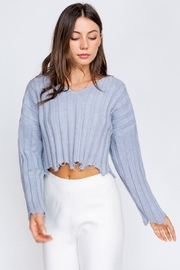 Le Lis Distressed Pullover - Front cropped