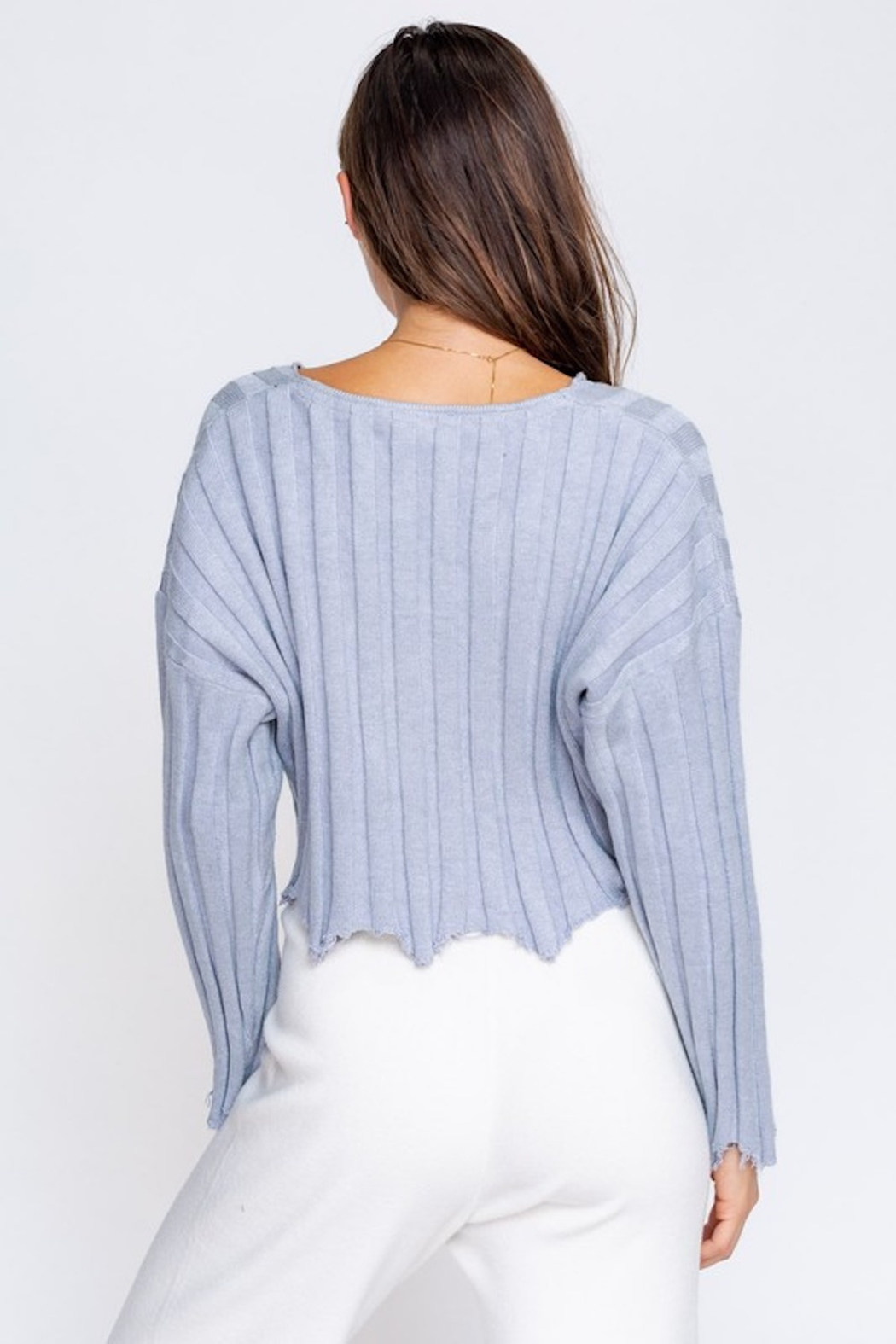 Le Lis Distressed Pullover - Side Cropped Image