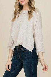 annabelle Distressed Seamed Sweater - Product Mini Image