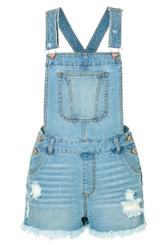 2Sable Distressed Short Overalls - Product Mini Image