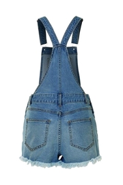2Sable Distressed Short Overalls - Front full body