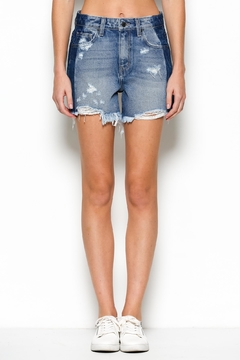 Hidden Jeans Distressed Side-Detail Shorts - Product List Image