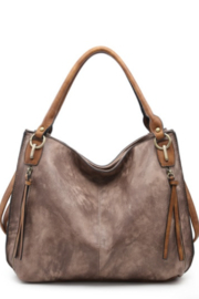 jen & co Distressed Side Pocket Tote - Product Mini Image