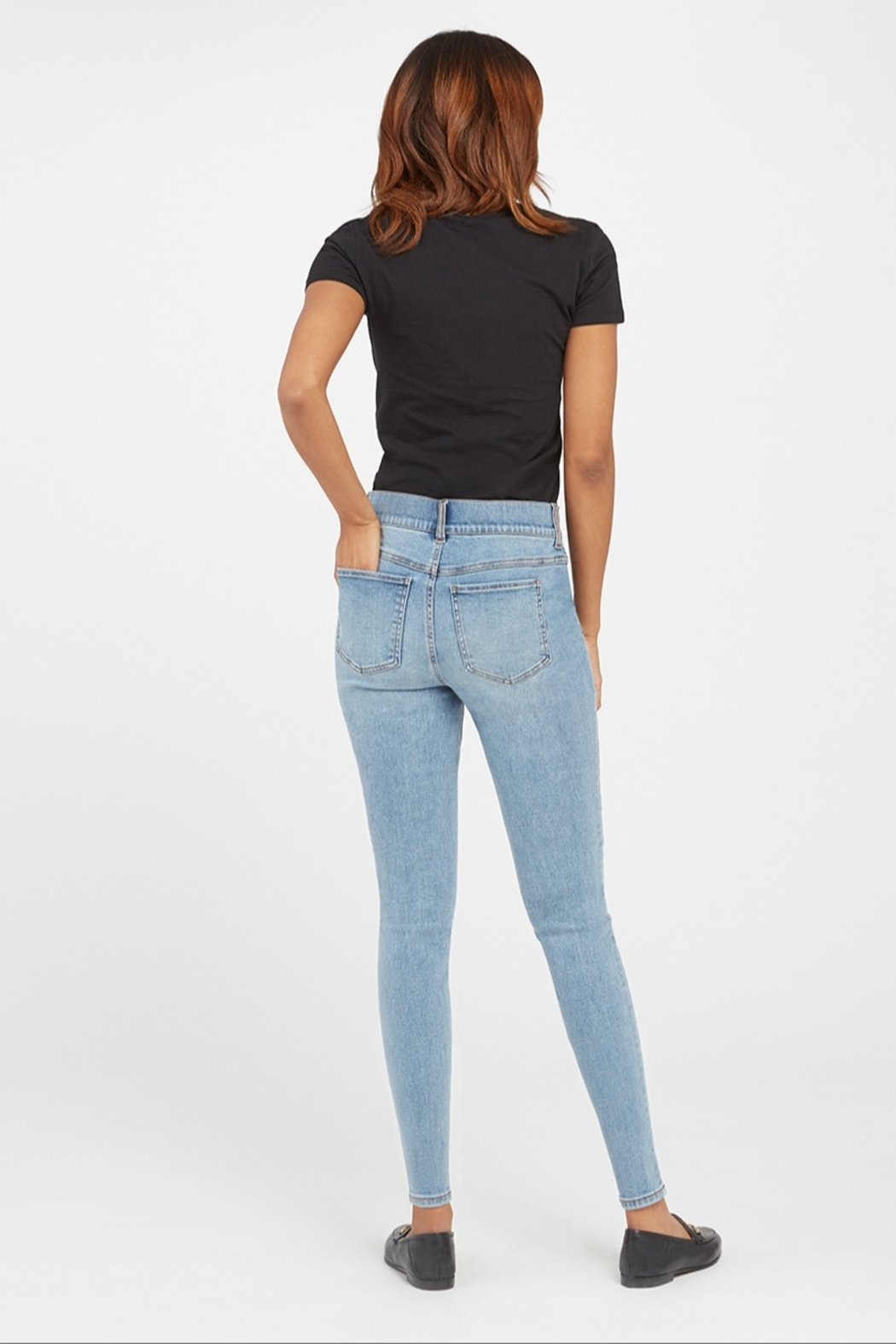 Spanx Distressed Skinny Jean - Side Cropped Image
