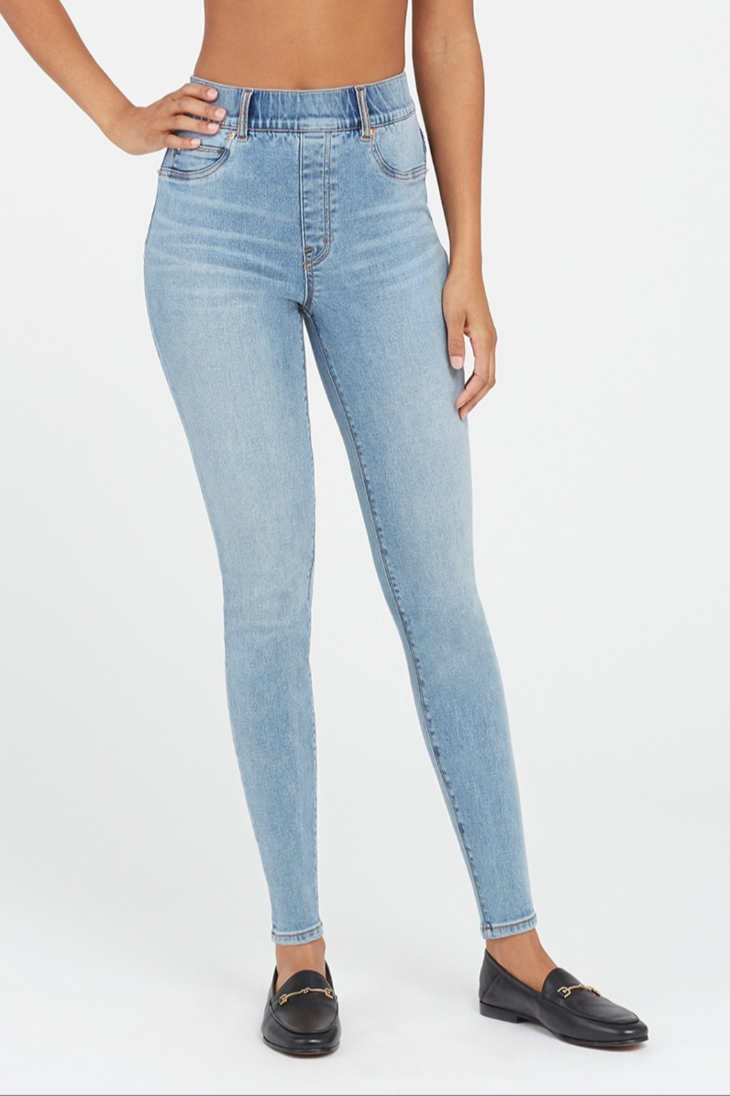 Spanx Distressed Skinny Jean - Front Full Image