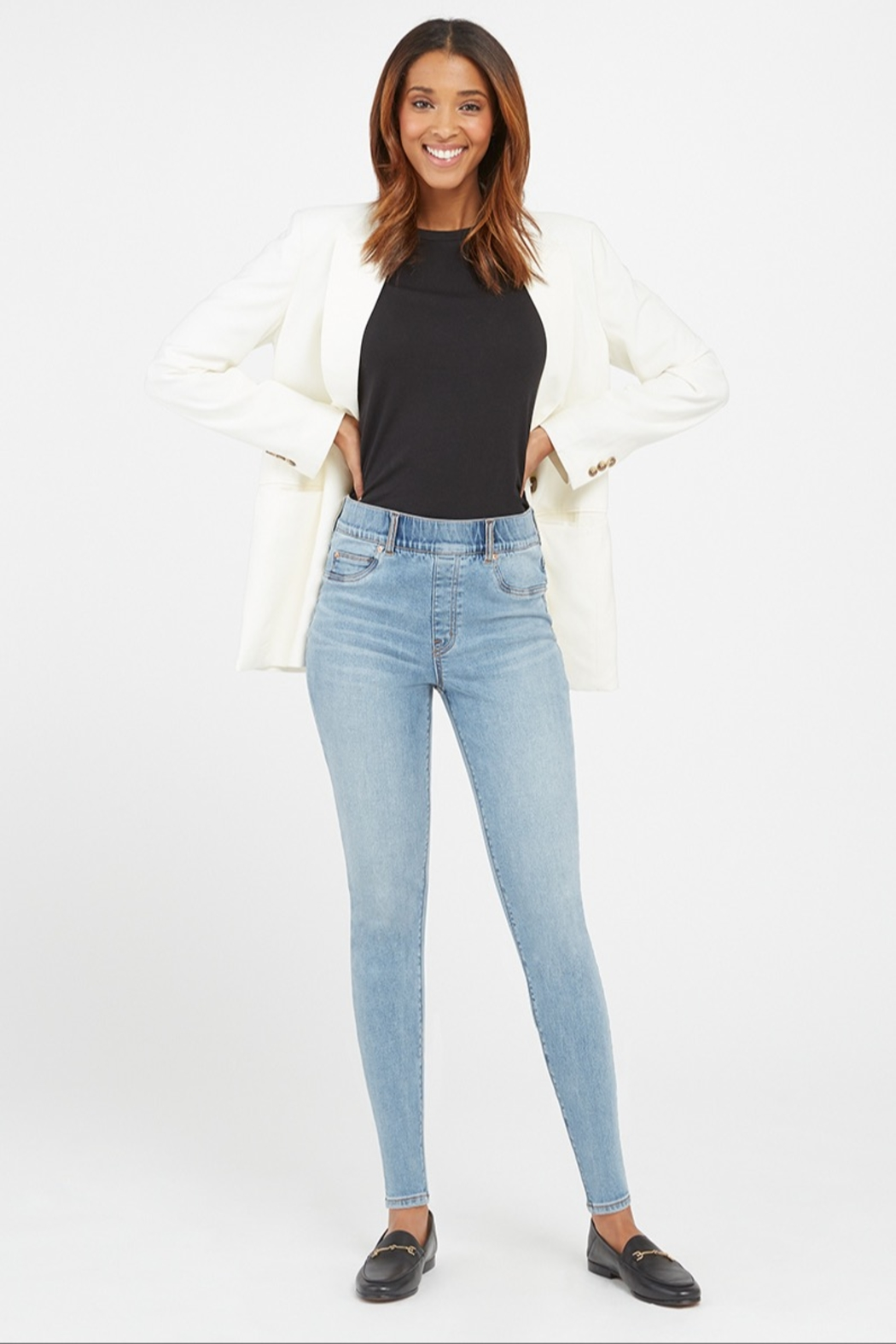 Spanx Distressed Skinny Jean - Front Cropped Image