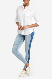 Spanx Distressed Skinny Jean w Side Stripe - Product Mini Image