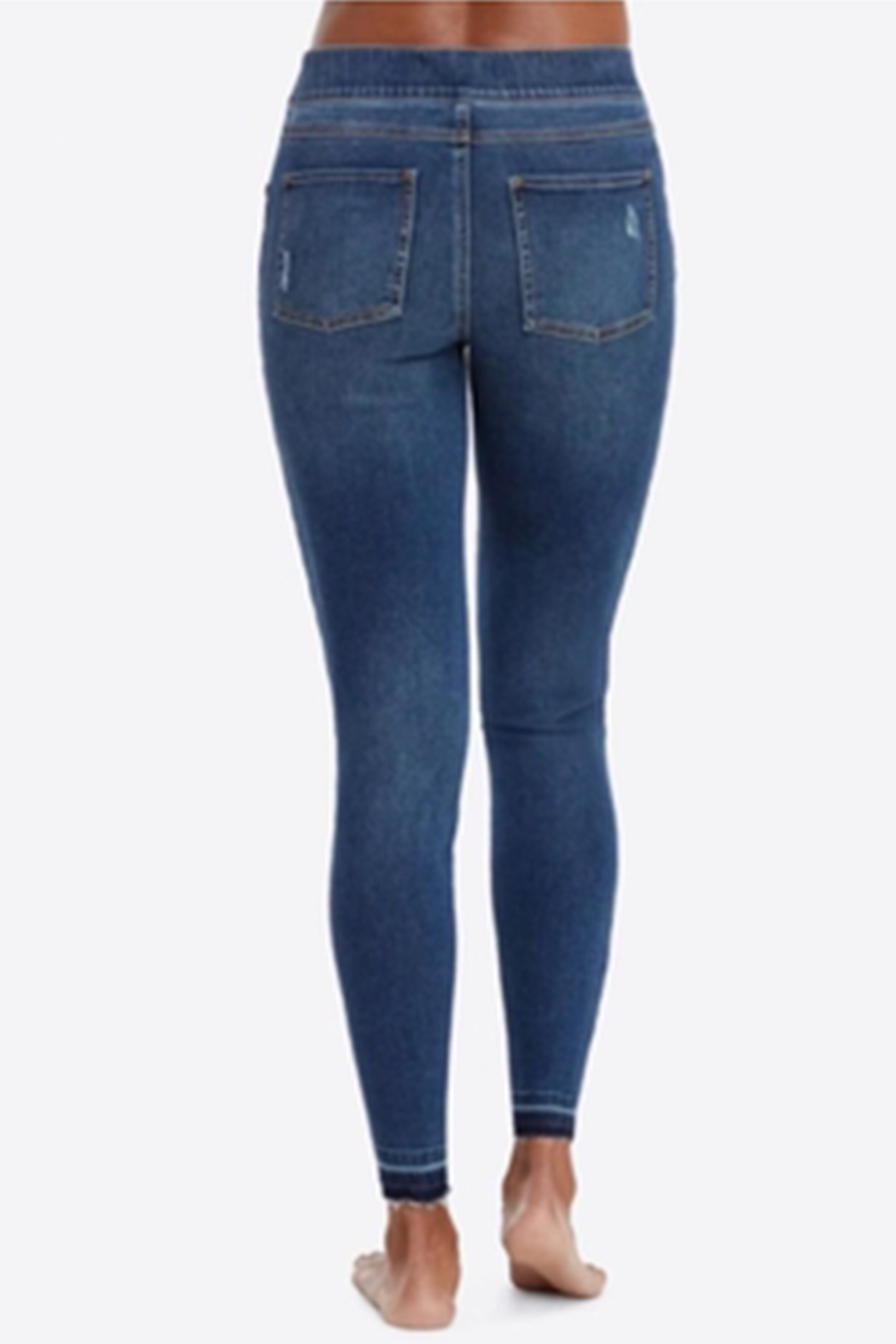 Spanx Distressed Skinny Jeans - Side Cropped Image