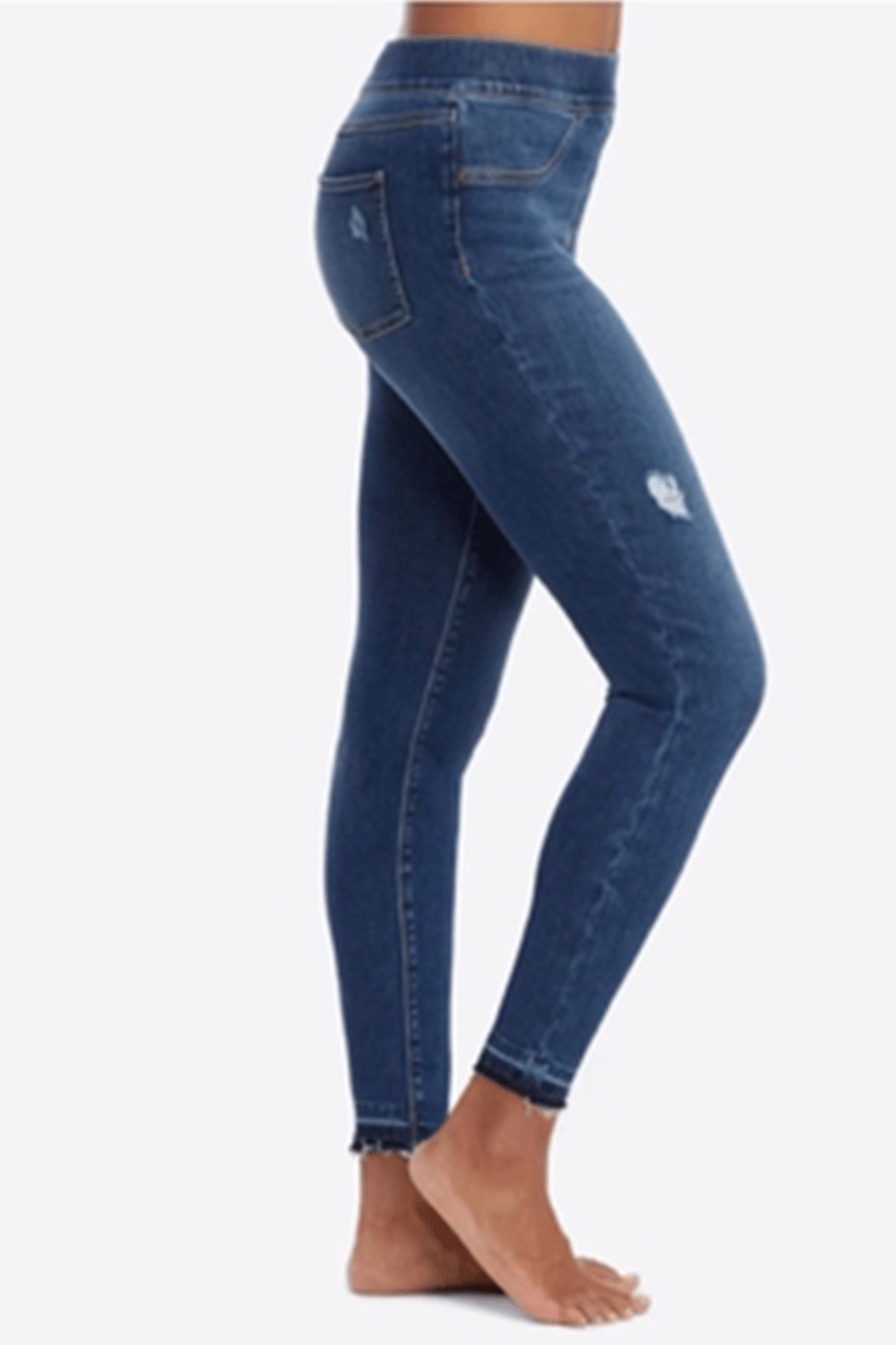 Spanx Distressed Skinny Jeans - Front Full Image