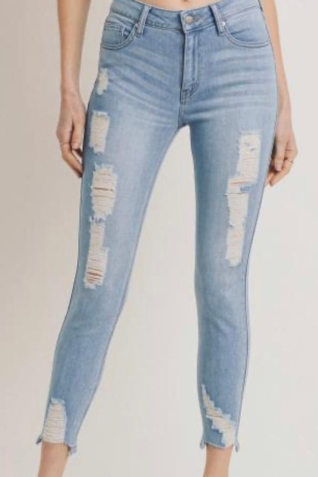 Letters to Juliet Distressed Skinny Jeans - Main Image
