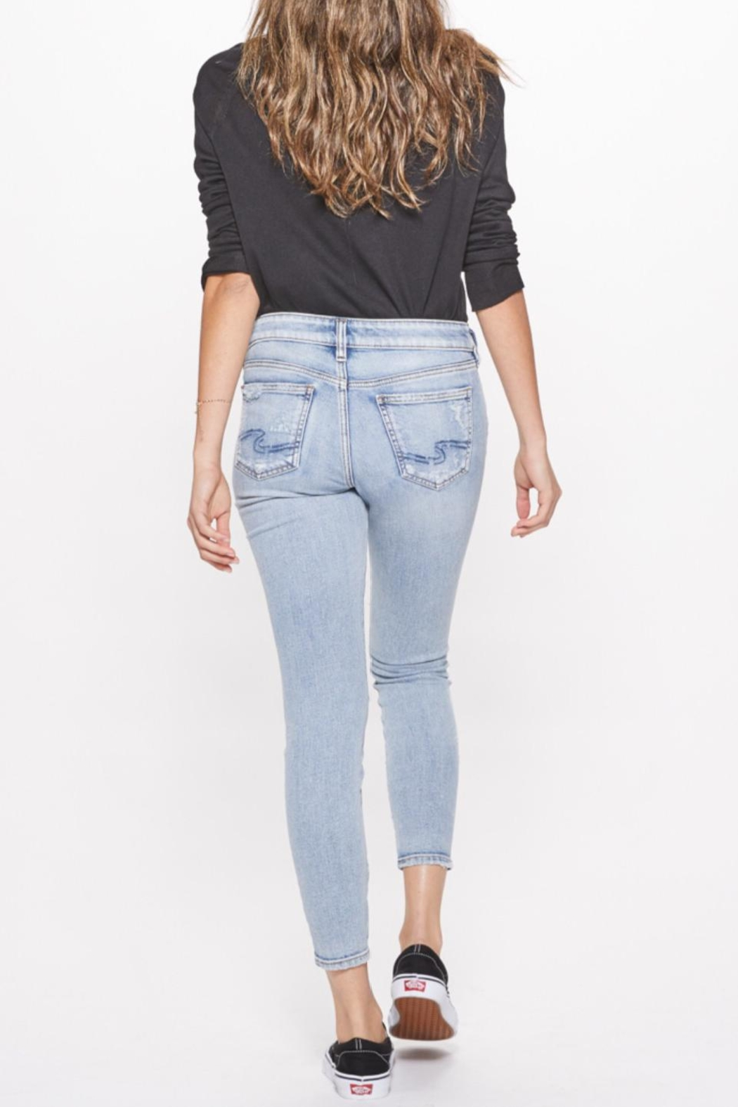 Silver Jeans Co. Distressed Skinny Jeans - Back Cropped Image