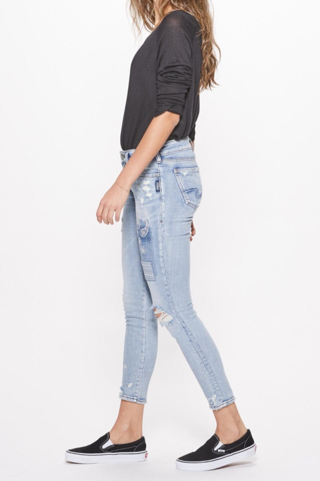 Silver Jeans Co. Distressed Skinny Jeans - Side Cropped Image