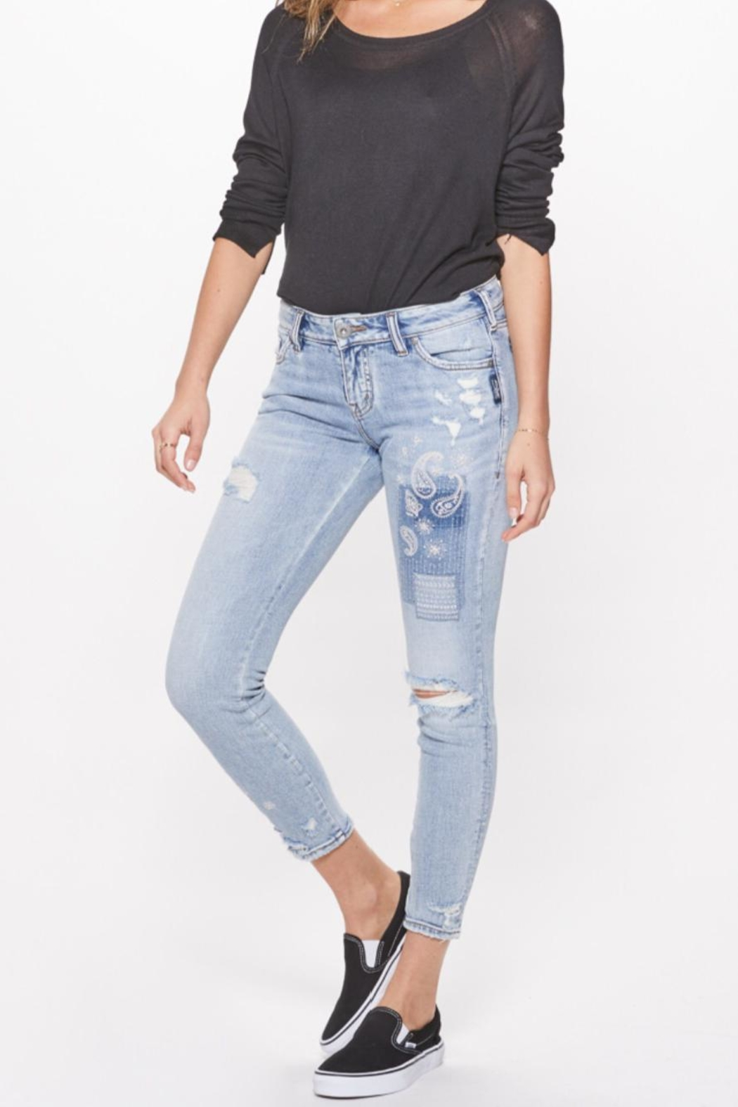 Silver Jeans Co. Distressed Skinny Jeans - Main Image