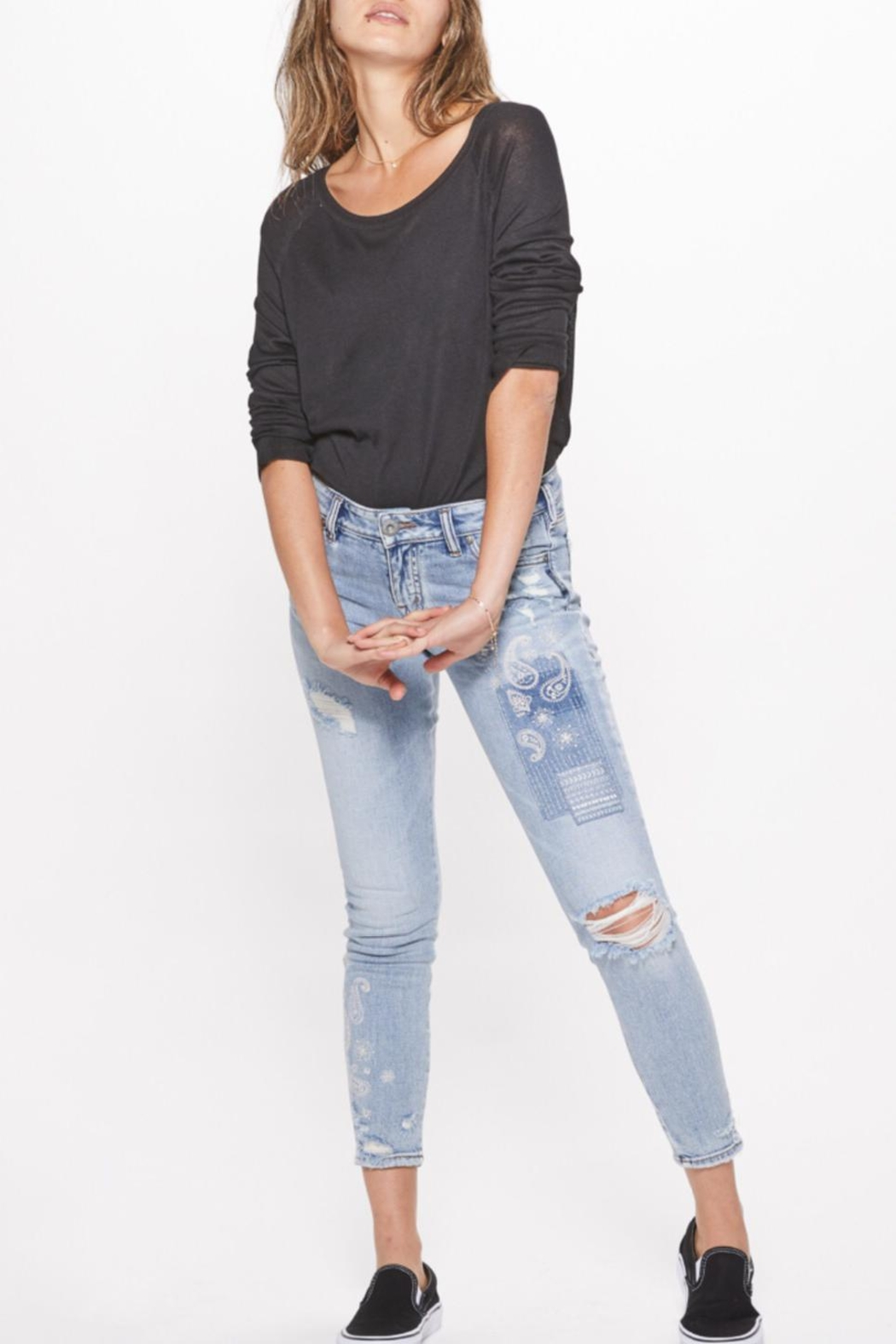 Silver Jeans Co. Distressed Skinny Jeans - Front Full Image