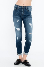 Sneak Peek Distressed Skinny Jeans - Product Mini Image