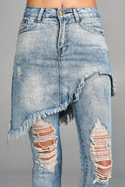 Racine Distressed Skirted Jeans - Back cropped