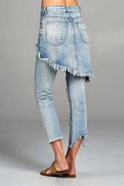 Racine Distressed Skirted Jeans - Side cropped