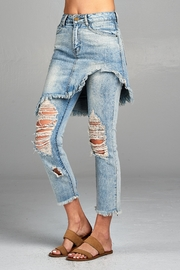 Racine Distressed Skirted Jeans - Front full body
