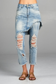 Racine Distressed Skirted Jeans - Front cropped