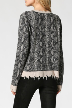 FATE by LFD Distressed Snake Print Sweater - Alternate List Image