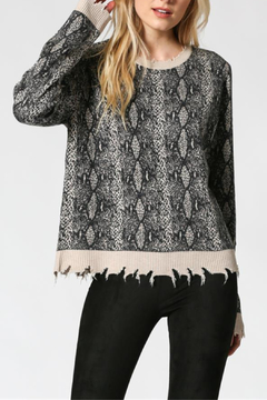 FATE by LFD Distressed Snake Print Sweater - Product List Image