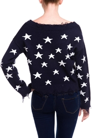 Honey Punch Distressed Star Sweater - Back cropped