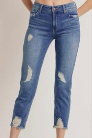 Letters to Juliet Distressed Straight Leg Jean - Product Mini Image