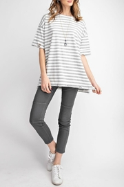 easel Distressed Striped Tee - Product Mini Image