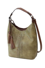 MC Handbags Distressed Studded Hobo - Product Mini Image