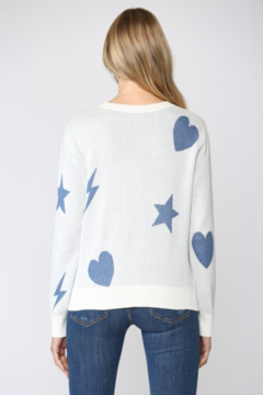 Fate Inc. Distressed Sweater with Matching Face Mask - Alternate List Image