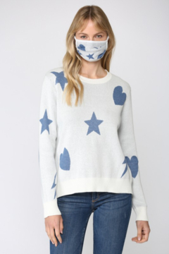 Fate Inc. Distressed Sweater with Matching Face Mask - Product List Image