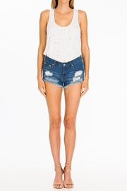 Olivaceous Distressed Tank - Back cropped